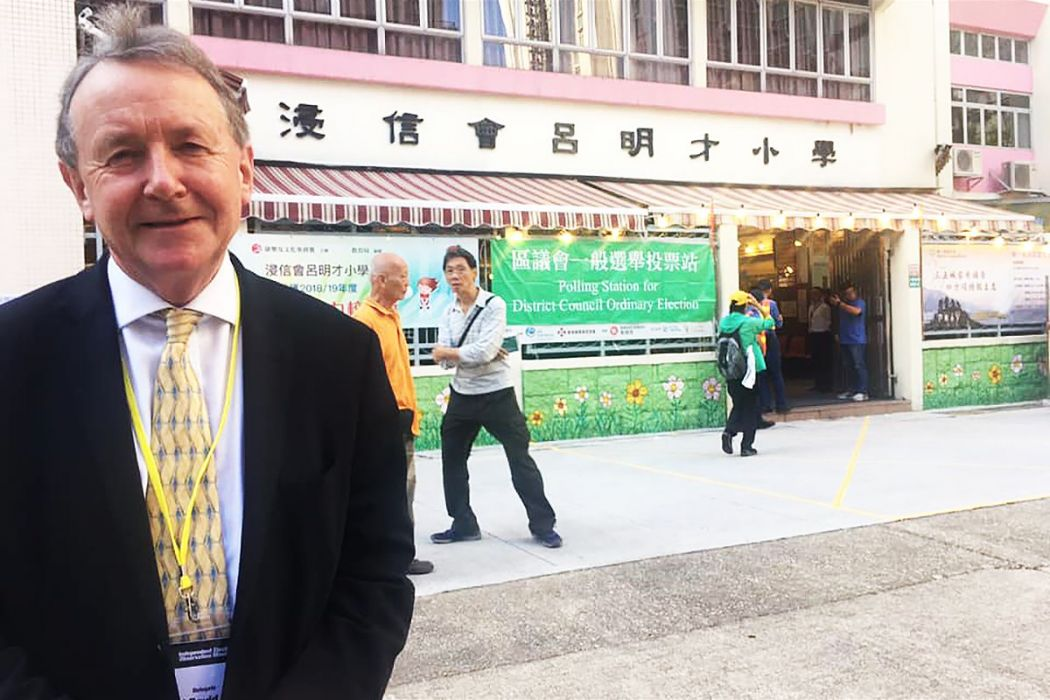 Lord Alton of Liverpool in Hong Kong
