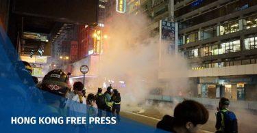 """Mong Kok tear gas """"December 15"""" Hong Kong police protester"""