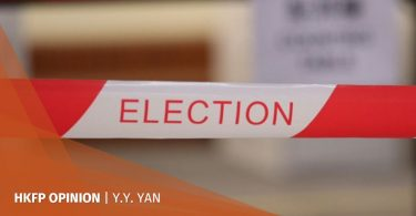 yy yan Hong Kong polling station protest election