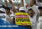 uighur rally indonesia