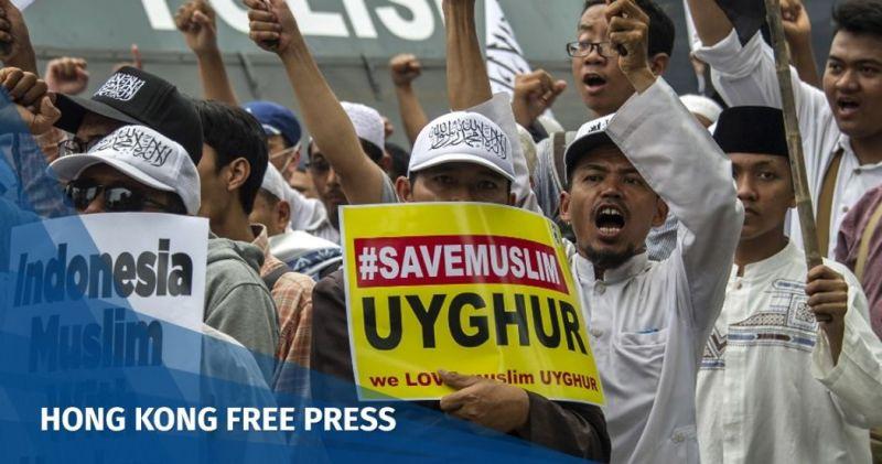 uighur rally indonesia