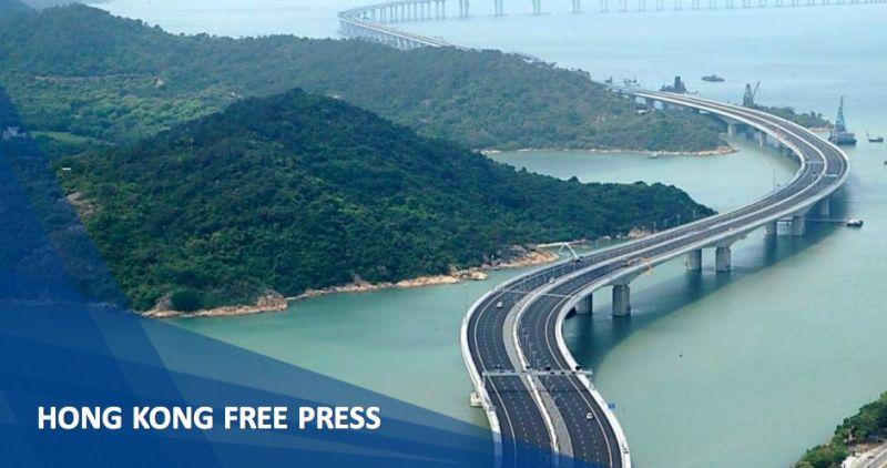 Macau China cross border bridge