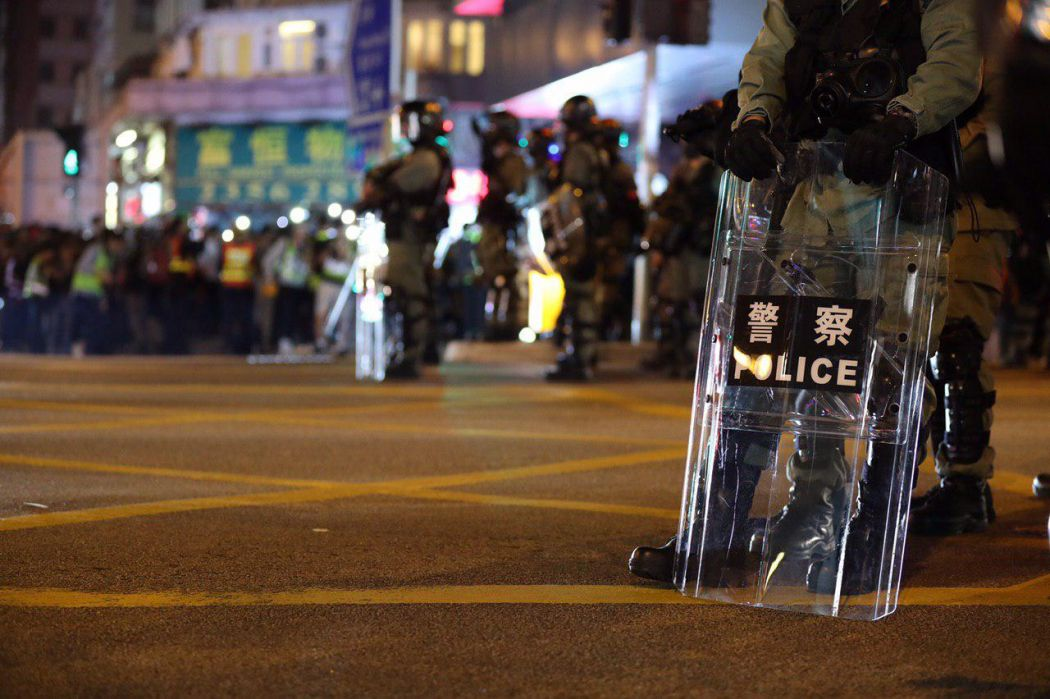 """December 1"" Whampoa Hong Kong police protester road clearance"