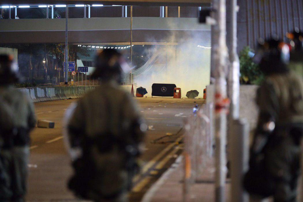"""""""December 1"""" Whampoa Hong Kong police protester streets tear gas"""
