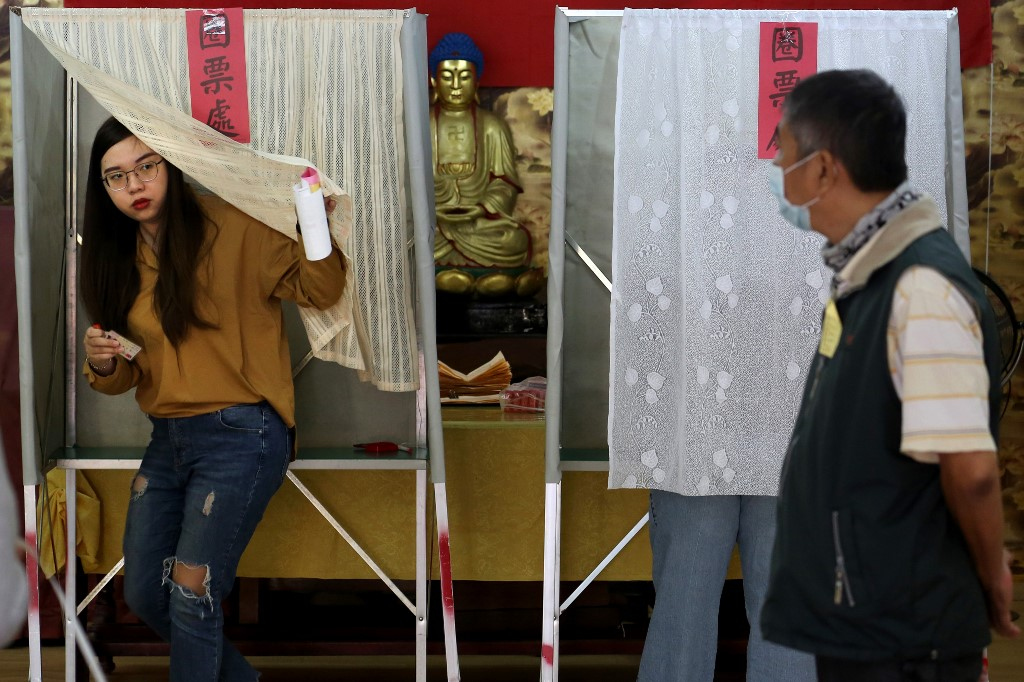 Taiwan 2020 president legislative election voters ballot
