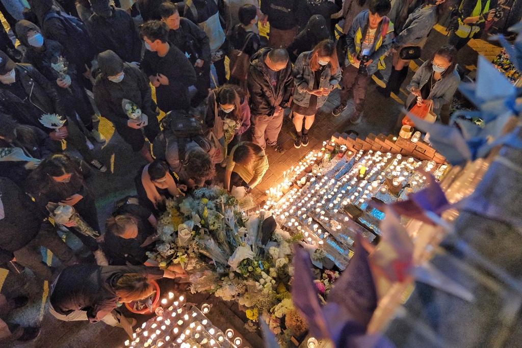 tseung kwan o alex chow vigil protest january 8