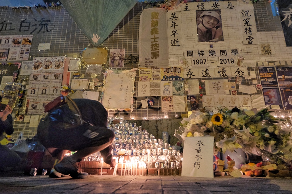 tseung kwan o alex chow vigil protest january 8