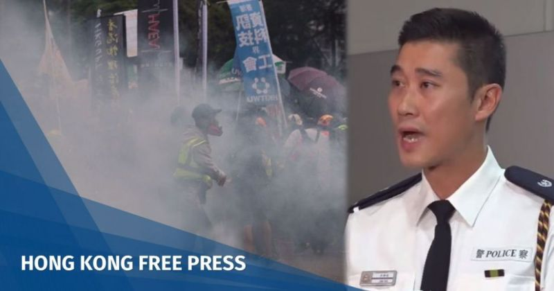 Ng Lok-chun tear gas