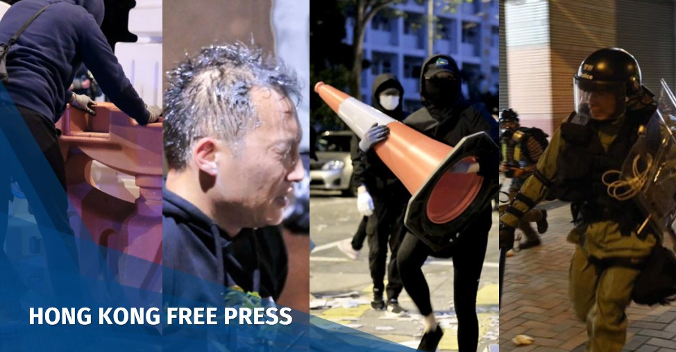 In Pictures: Proposed Hong Kong virus quarantine building firebombed during protest | Hong Kong Free Press HKFP