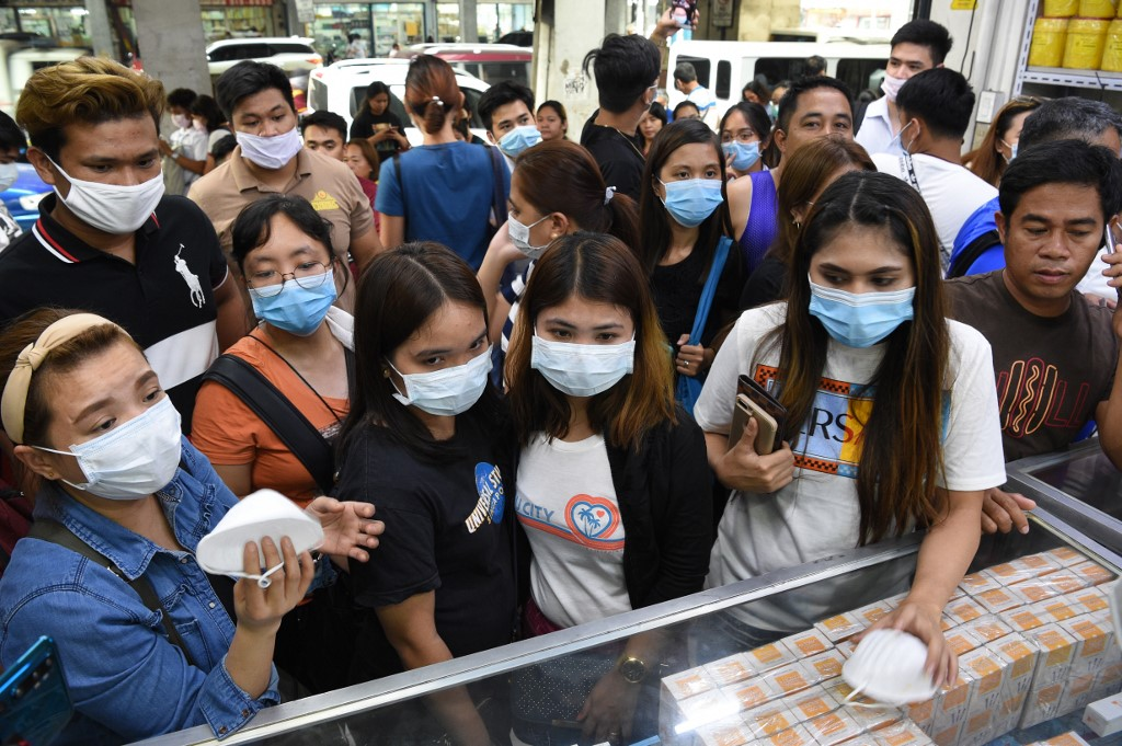 Philippines Manila face mask coronavirus China