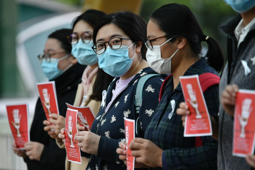 Hong Kong medical workers Queen Mary Hospital strike coronavirus