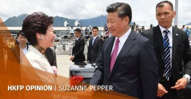 Xi Jinping Carrie Lam Suzanne Pepper