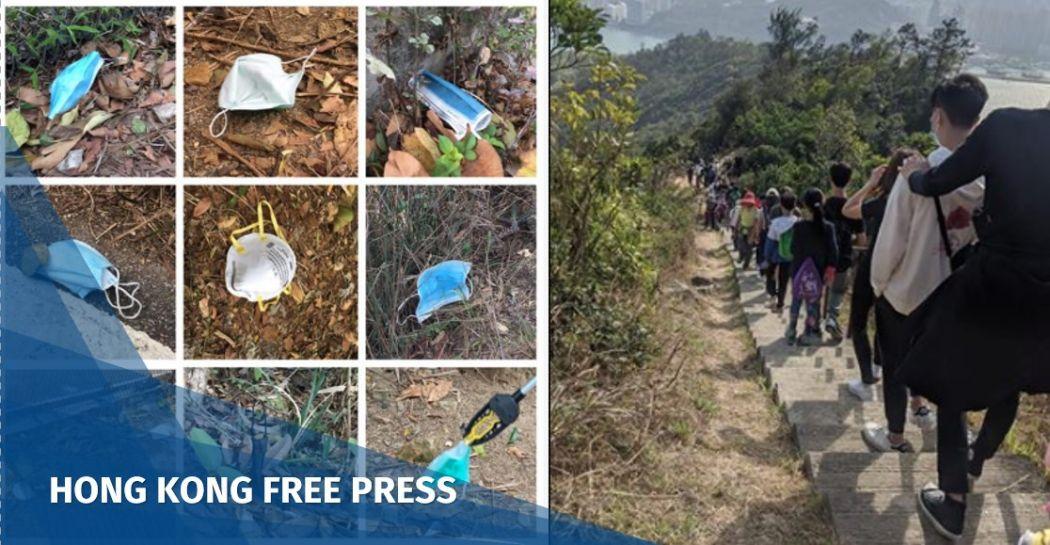 Trash hong kong hiking trail