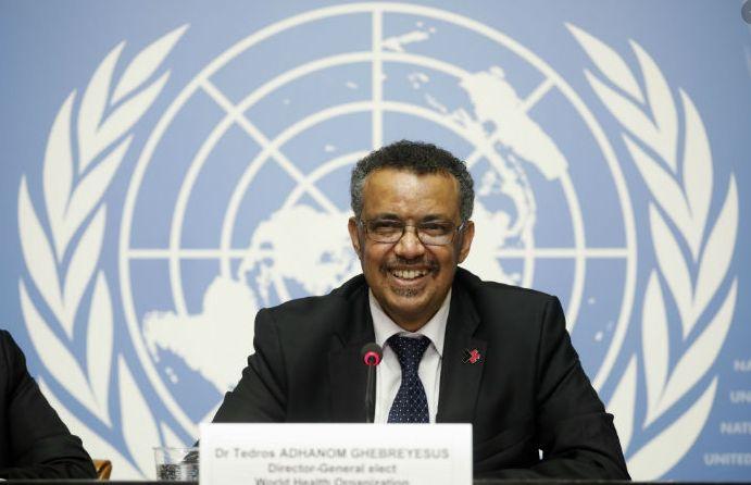 WHO World Health Organization Director-General Tedros Adhanom