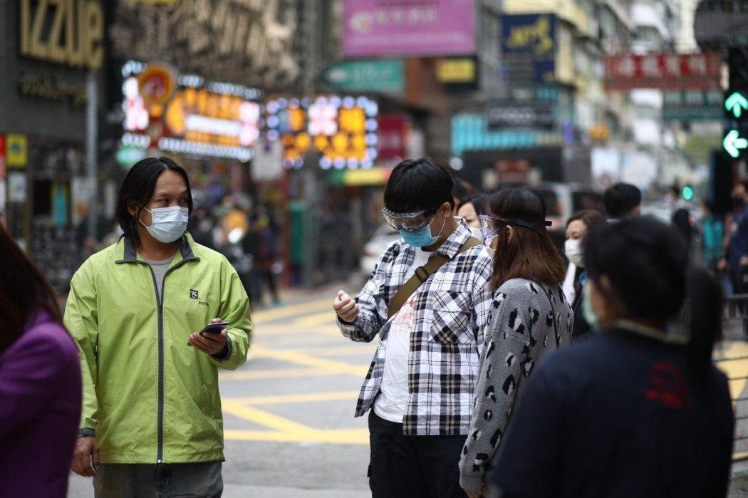 Hong Kong mask coronavirus goggles