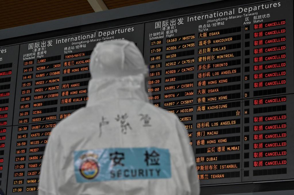 China Covid-19 coronavirus Shanghai airport medic
