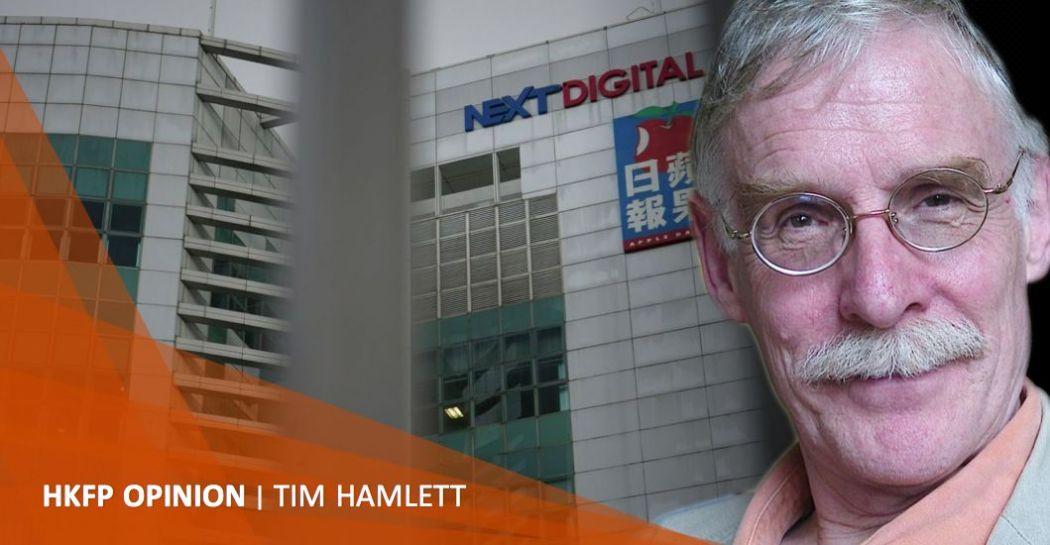 Tim Hamlett Jimmy Lai Next media arrest