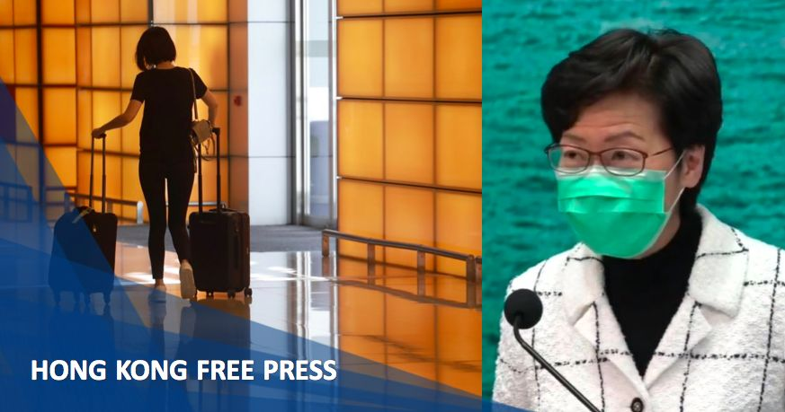 Carrie Lam visitors foreign countries coronavirus