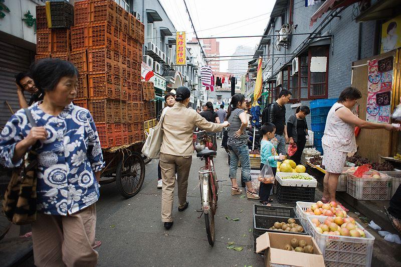 China shanghai streets stock image