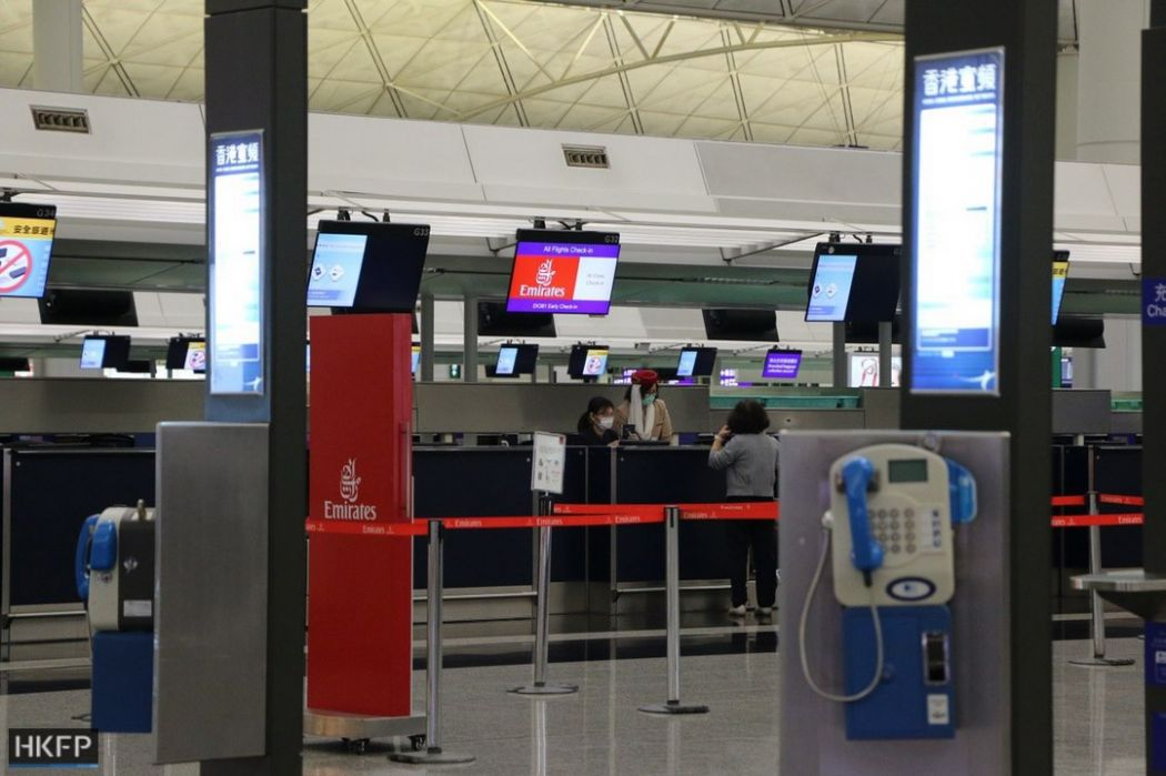 hong kong international airport quarantine order coronavirus