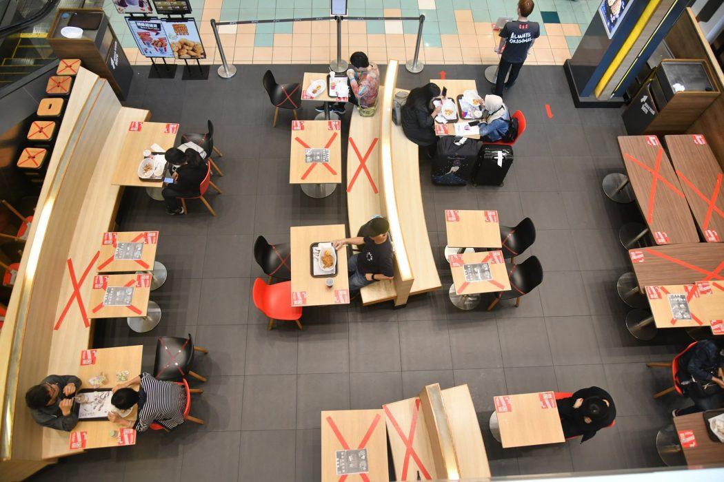 social distancing restaurant coronavirus virus