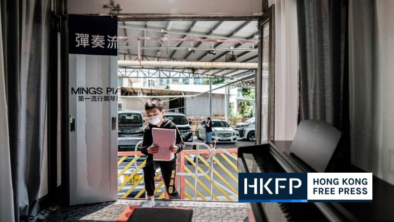 Hong Kong coronavirus virus piano lesson mobile