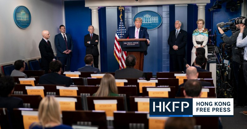 Donald Trump White House media press standup