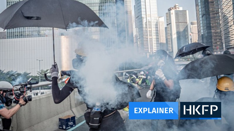 Explainer Hong Kong tear gas