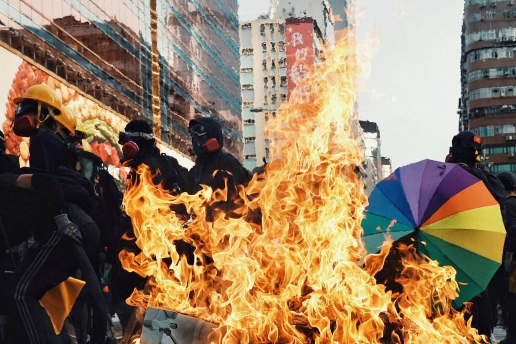 protest fire