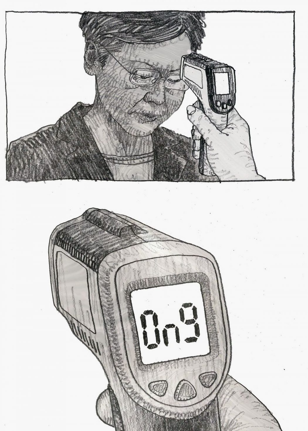 Temperature reading of Chief Executive Carrie Lam (Copy)