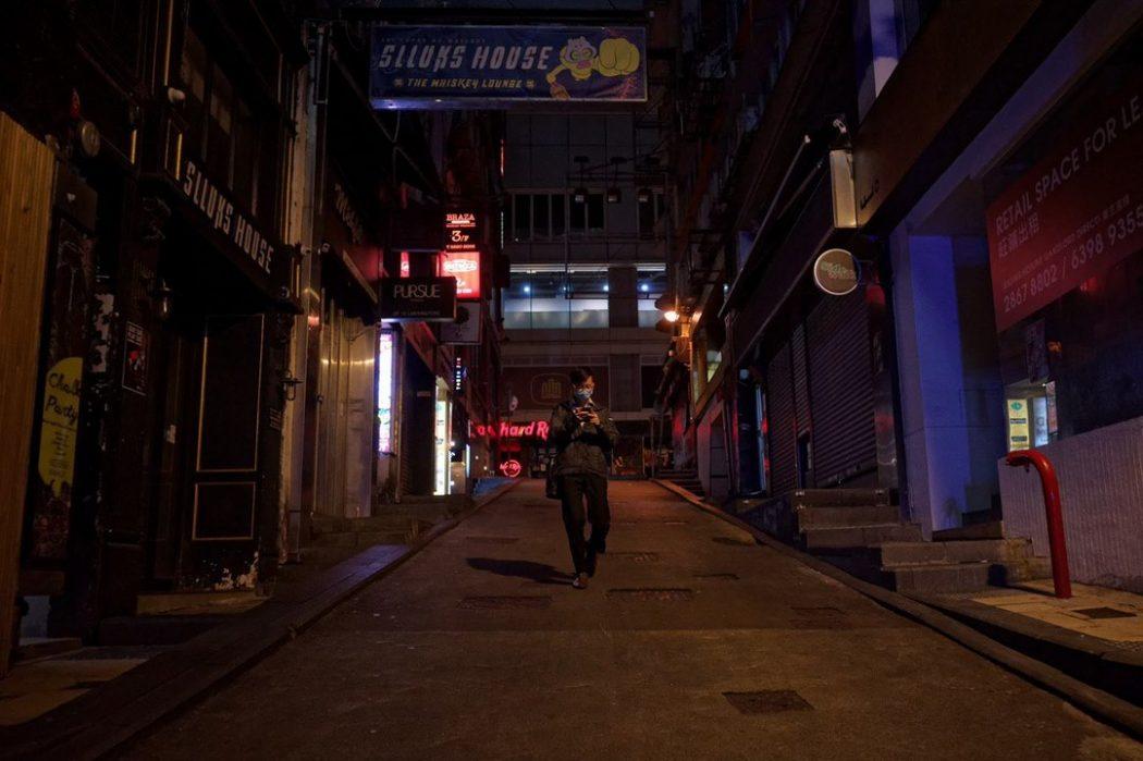 social distancing Lan Kwai Fong bars