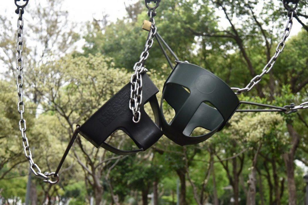 social distancing park swing