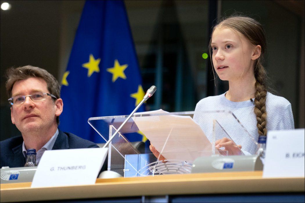 Greta Thunberg European Parliament