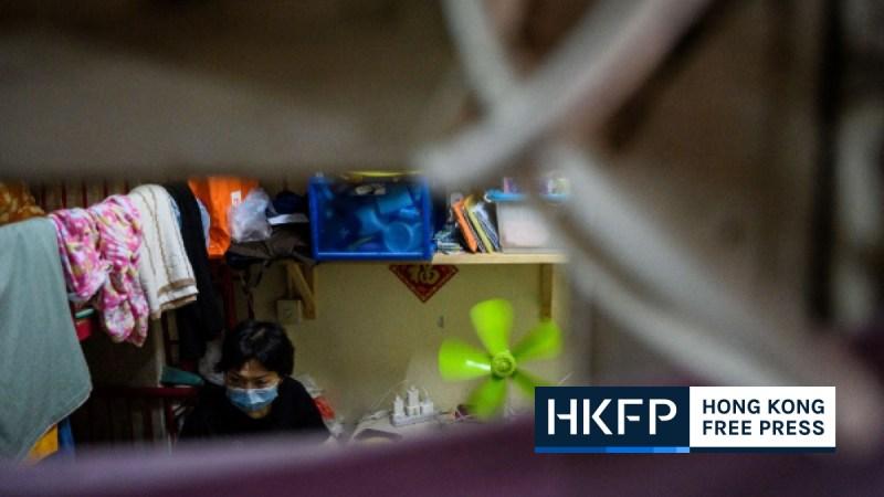 Covid-19 Hong Kong coronavirus social distancing micro-flats cubicle