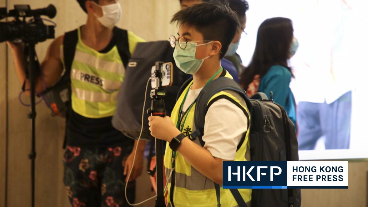 12 year old boy reporter journalist student Tsim Sha Tsui