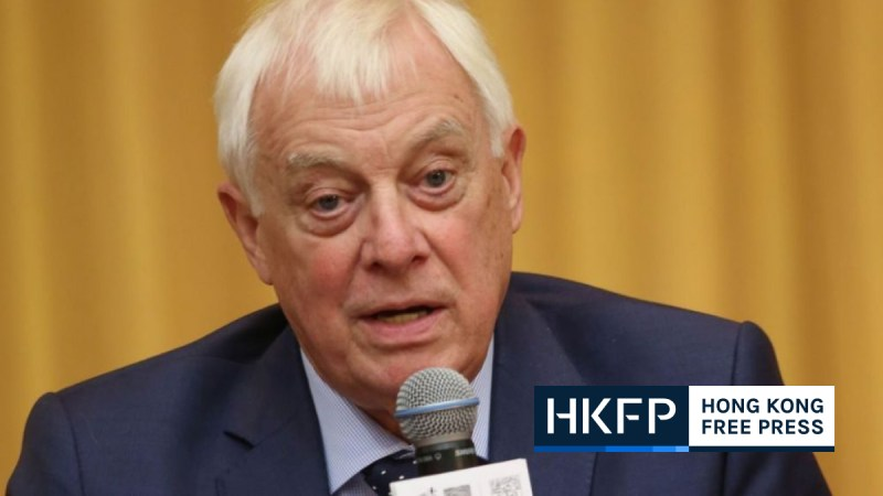 chris patten china foreign ministry