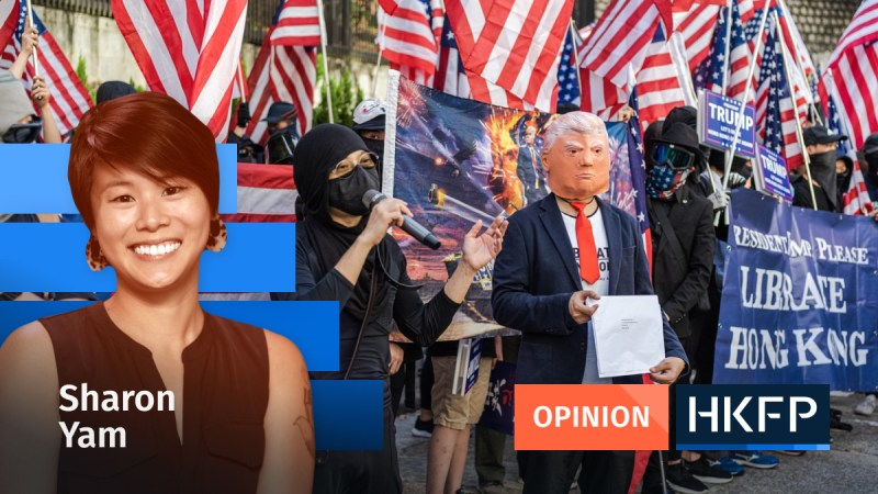 Sharon Yam Opinion Donald Trump Hong Kong protest