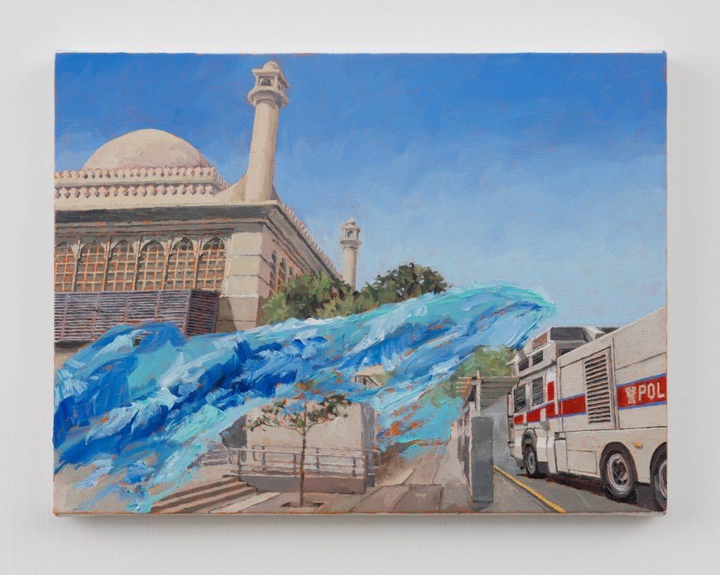 HKFP Lens Chow Chun-fai protest water cannon mosque