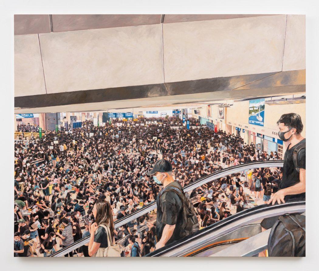 HKFP Lens Chow Chun-fai protest Hong Kong International Airport