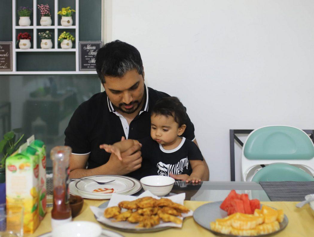 Abdul and baby Layth