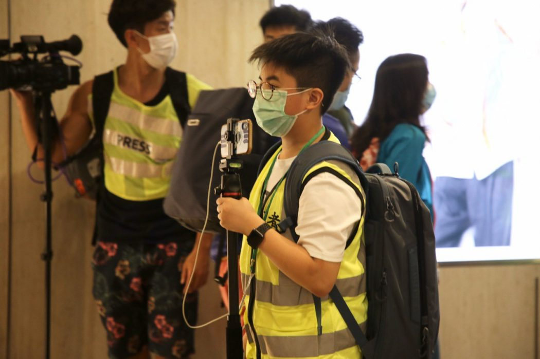 12 year old boy reporter journalist student Tsim Sha Tsui