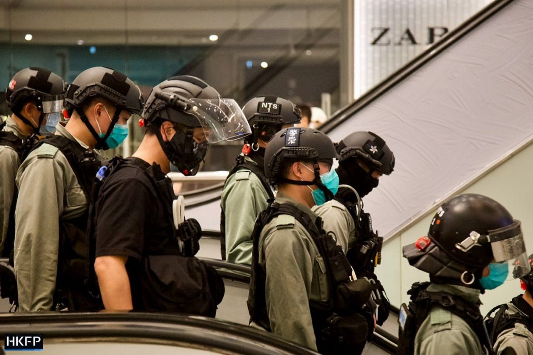"""Sha Tin New Town Plaza """"May 1 2020"""" protest police"""