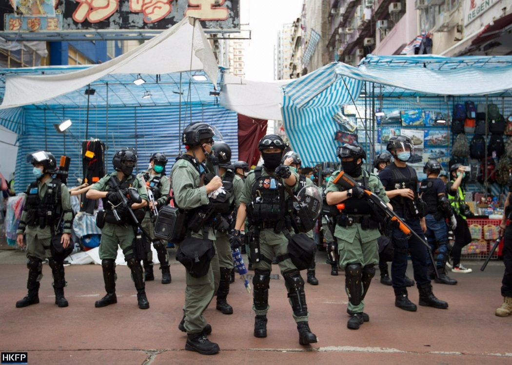 Riot police protest May 27, 2020