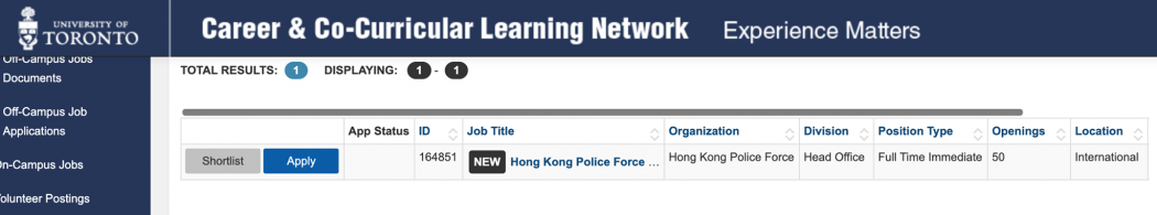 heidi lee hong kong police canadian university job listing canada