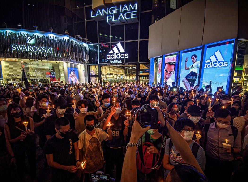 tiananmen massacre vigil 31st 2020 june 4 mong kok candlelight langham place