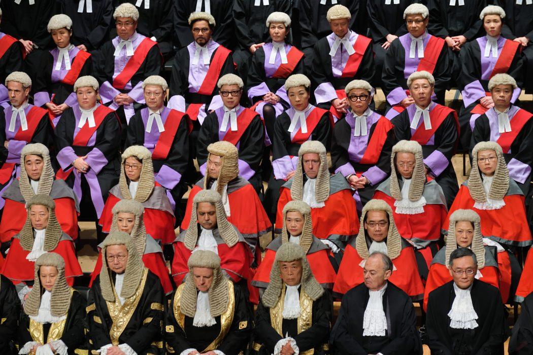 Hong Kong judges at City Hall