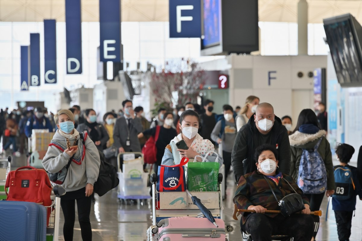 coronavirus virus Hong Kong International Airport
