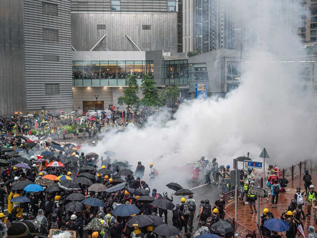 September 29 2019 Protest police tear gas