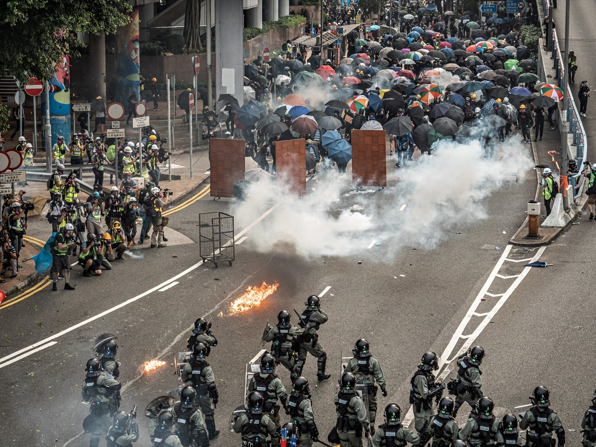 September 29 2019 Protest police tear gas
