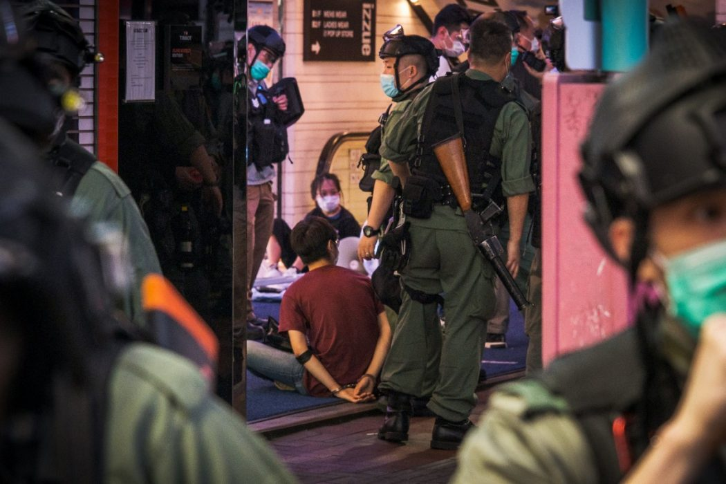 June 20, 2020 police arrest Causeway Bay